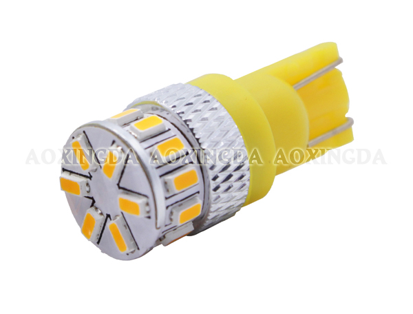 T10 yellow 3014-18SMD LED